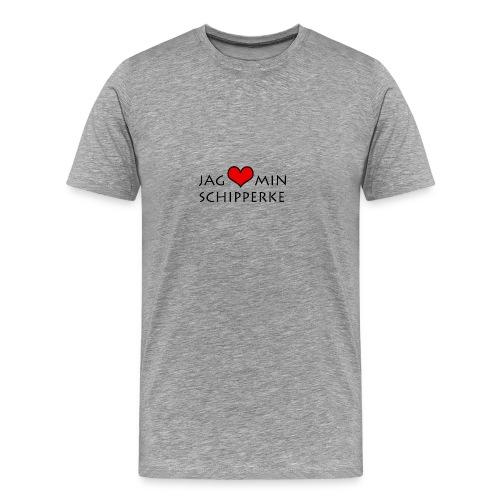 Jag älskar min schipperke herr - Premium-T-shirt herr