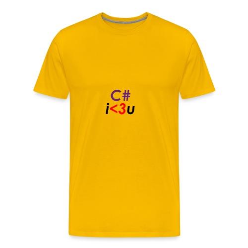 C# is love - Maglietta Premium da uomo