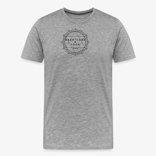 Heartcore Yoga - Mannen Premium T-shirt
