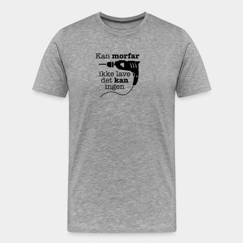 Morfar med boremaskinen - Herre premium T-shirt