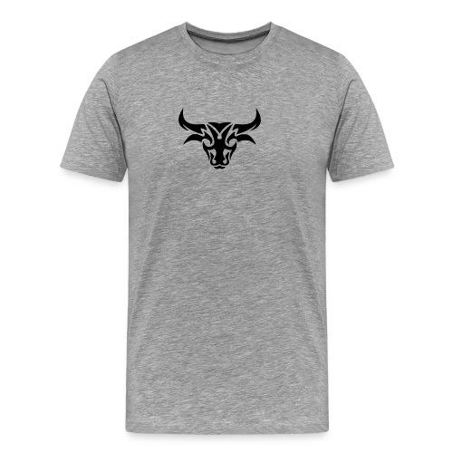 tribal bull burned png - Herre premium T-shirt