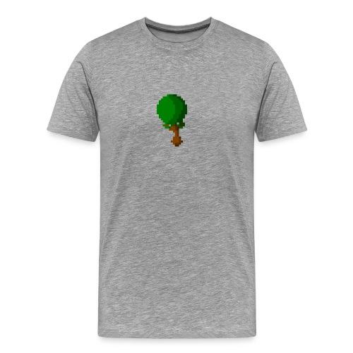 Happy Pixel Tree - Mannen Premium T-shirt