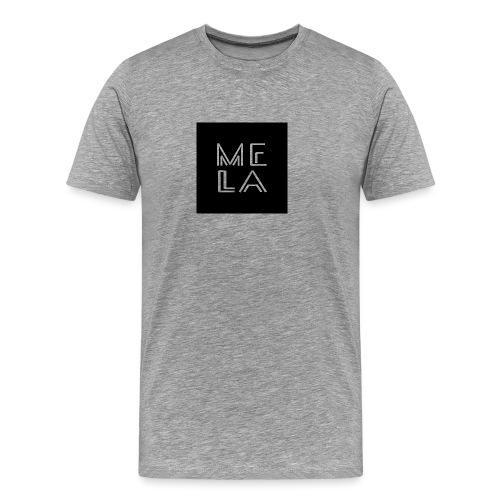 Mela Svart Logo - Premium T-skjorte for menn