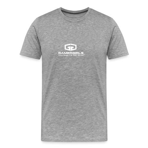 GamerGirlstvLogoD White - Männer Premium T-Shirt