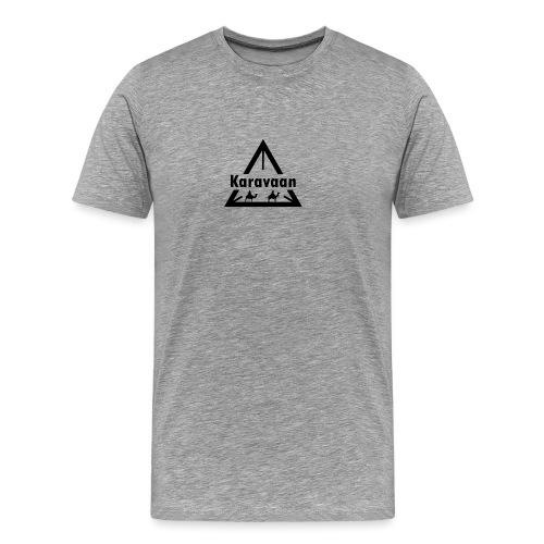 Karavaan Black (High Res) - Mannen Premium T-shirt