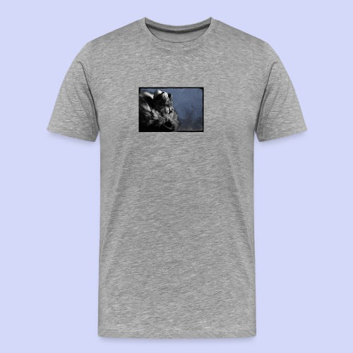 Lion night - Female shirt - Herre premium T-shirt
