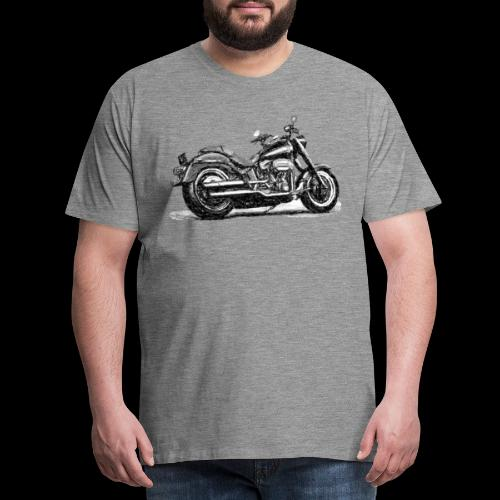 Chopper Sketch - Männer Premium T-Shirt