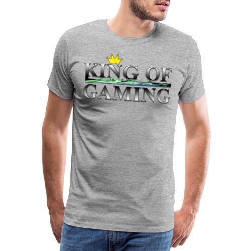 King of Gaming Gamer Geschenk - Männer Premium T-Shirt