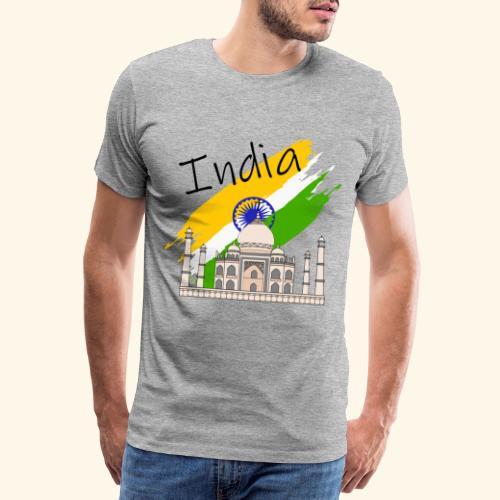 Indien Taj Mahal - Männer Premium T-Shirt