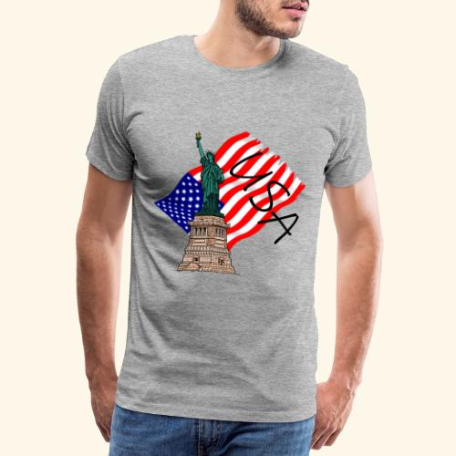 USA Freiheitsstatue - Männer Premium T-Shirt