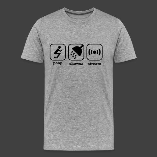 poopshowerstream - Men's Premium T-Shirt