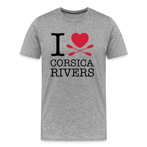 T-shirt I Love Corsica Ri - Männer Premium T-Shirt