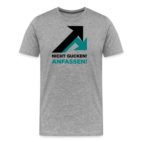 motiv2anfassengrey - Männer Premium T-Shirt