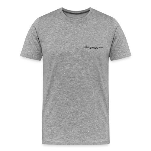 shirtfront laptime back 2015 png - Männer Premium T-Shirt