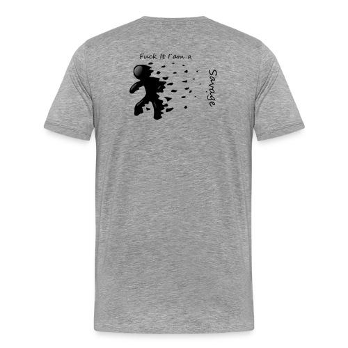 Savage Stick man Tee And Hoodie - Herre premium T-shirt