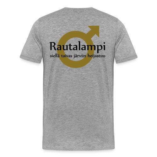 rautalampitaivasheijastuu - Miesten premium t-paita