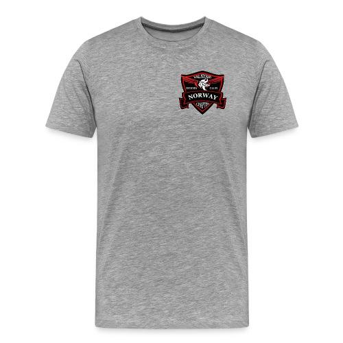 NorwayShieldLogotranspng png - Premium T-skjorte for menn