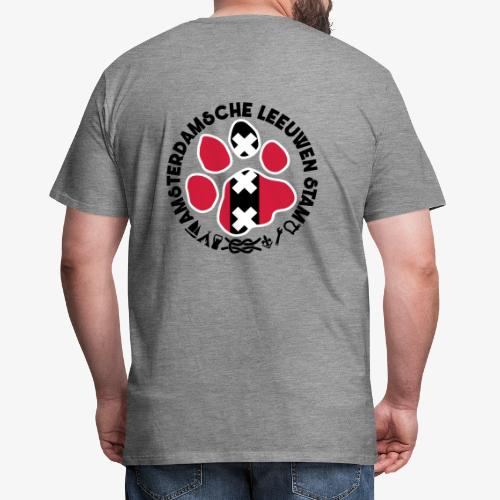 ALS witte rand lichtshirt - Mannen Premium T-shirt