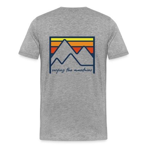 surfing the mountains - dégradé orange - T-shirt Premium Homme