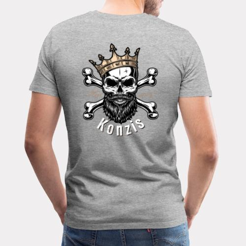Skull Bones Logo - Männer Premium T-Shirt
