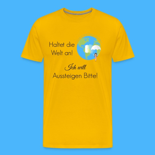 Logo Spruch schwarz - Männer Premium T-Shirt