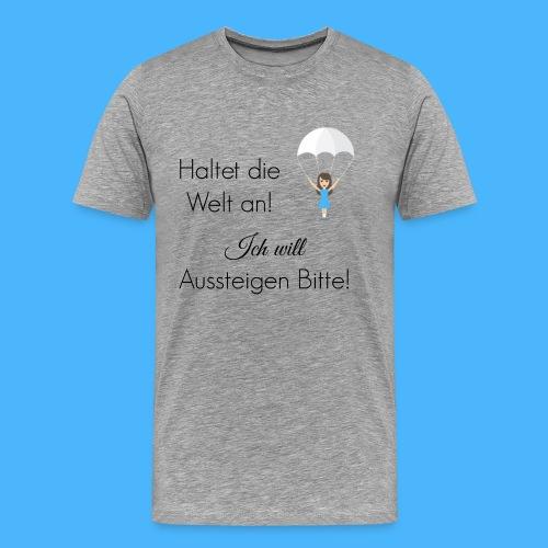 Fallschirm schwarz - Männer Premium T-Shirt