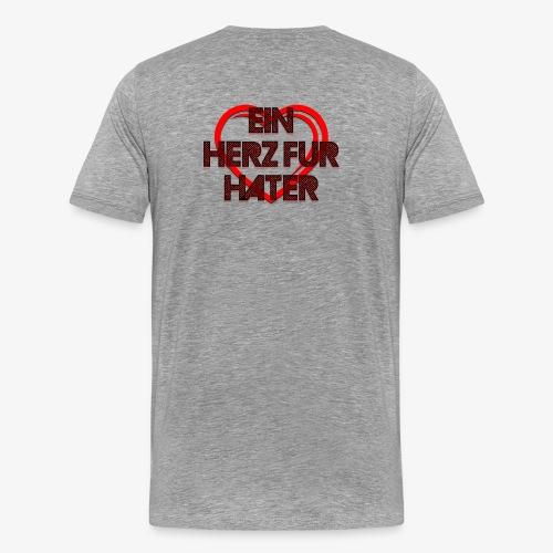 Ein Herz für Hater - Männer Premium T-Shirt