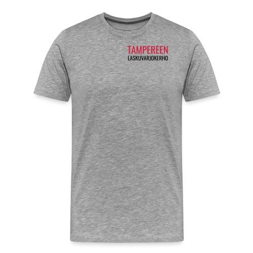 Teksti TAMLK logo CMYK - Miesten premium t-paita