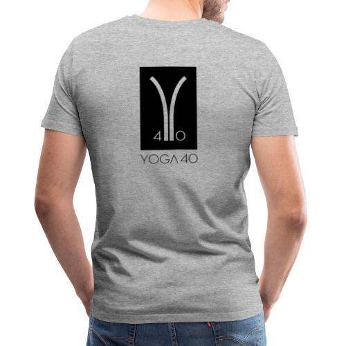 Y40 logotipo negro - Camiseta premium hombre
