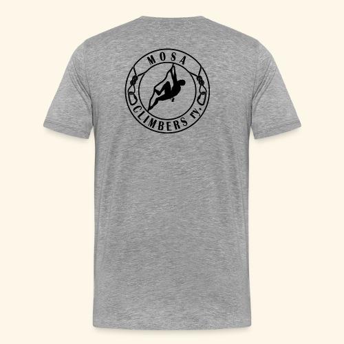 Mosa climbers black - Miesten premium t-paita