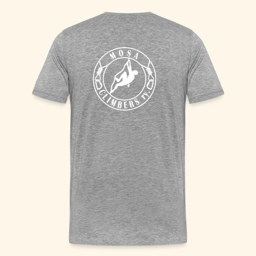 Mosa Climbers white - Miesten premium t-paita