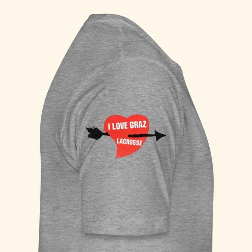 I LOVE GRAZ LACROSSE - Männer Premium T-Shirt