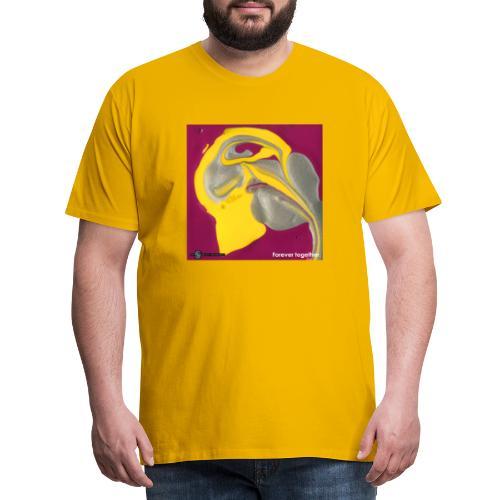 TIAN GREEN Welt Mosaik - CH071 Forever together - Männer Premium T-Shirt