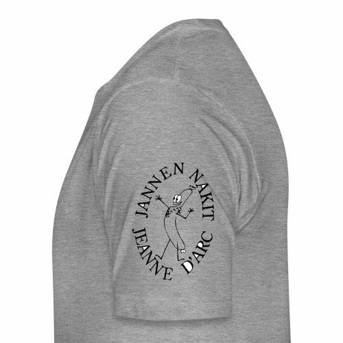 Nakkilogo musta - Miesten premium t-paita