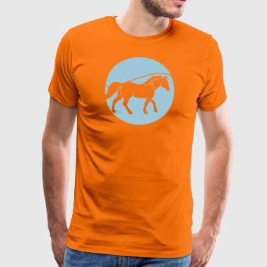 Wildtiere: das Quarterhorse - Männer Premium T-Shirt