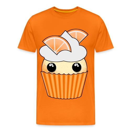 muffins apelsin orange med klyftor - Premium-T-shirt herr