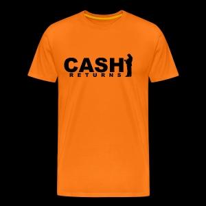 CASH RETURNS Logo (Black) - Men's Premium T-Shirt