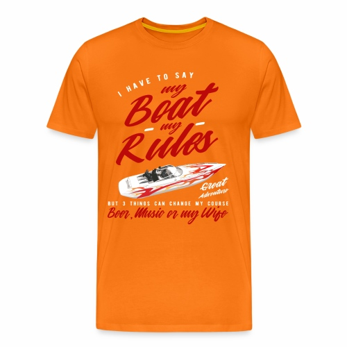 Speedboot - Männer Premium T-Shirt