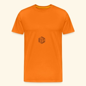 Simple cube - T-shirt Premium Homme