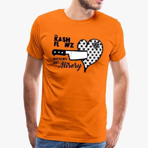 Nothing But Misery Knife Heart Black - T-shirt Premium Homme