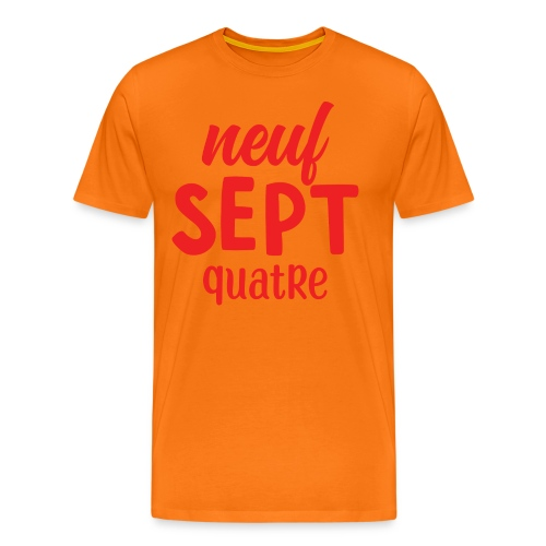 Neuf, sept, quatre - T-shirt Premium Homme