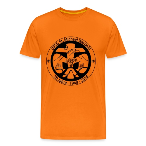 Logo Aufnaeher Jubi SW - Männer Premium T-Shirt