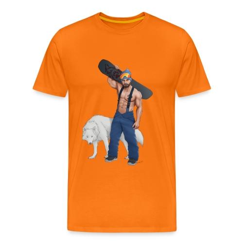 snowboarder wolf - Maglietta Premium da uomo