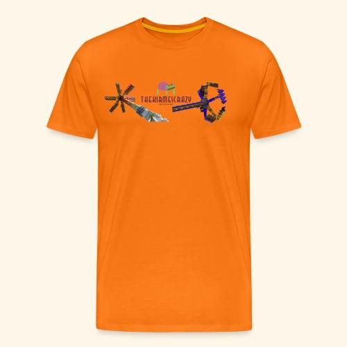 Logo groß mit Fahrgeschäften - Männer Premium T-Shirt