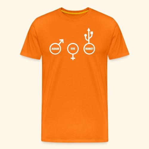 ROBOT NERD - Mannen Premium T-shirt