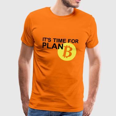 Bitcoin Plan B - Koszulka męska Premium