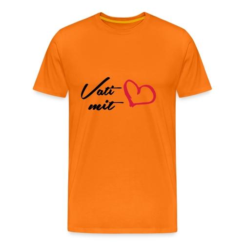 Vati mit Herz - Männer Premium T-Shirt
