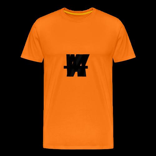 (Limited Edition) AWM Corner Logo Blackout - Men's Premium T-Shirt