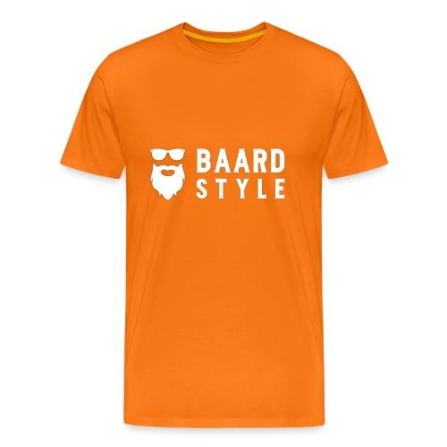BaardStyle cap 1-white - Mannen Premium T-shirt