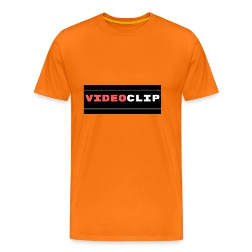 VideoClip-tekst - Mannen Premium T-shirt